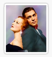 Colorized Joan Crawford & Clark Gable in 1931 Possessed Sticker