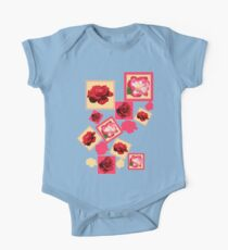 Red Roses One Piece - Short Sleeve
