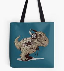 Record Store Day : Dino Loves Music Tote Bag
