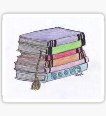 Stacked Books Sticker