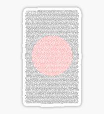 History of Japan Script Sticker