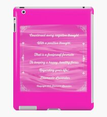 Counteract Every Negative Thought by Diamante Lavendar iPad Case/Skin
