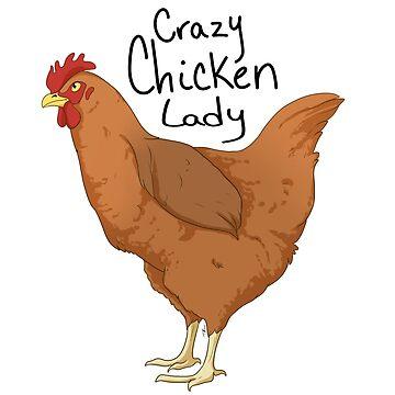 Crazy chicken lady by TashaDawn