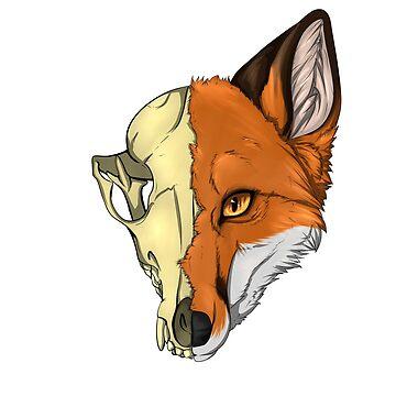 Fox Skull by TashaDawn