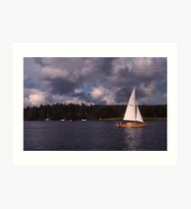 Winter sailing in Stockholm Art Print
