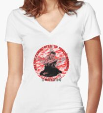 Are you taking over - or taking orders? Women's Fitted V-Neck T-Shirt