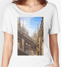 a forest of sculptures. Duomo. Milano. Women's Relaxed Fit T-Shirt