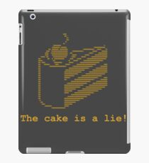 The cake is a lie! (fanart) iPad Case/Skin