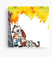 Calvin and Hobbes Under Tree Canvas Print