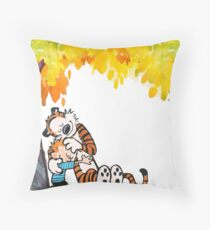Calvin and Hobbes Under Tree Throw Pillow