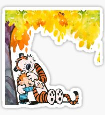 Calvin and Hobbes Under Tree Sticker