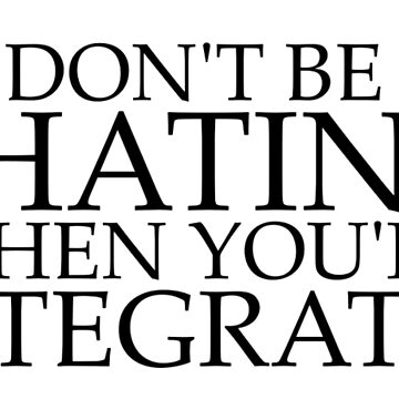 Don't be Hatin' when you're Integratin' by -HG-