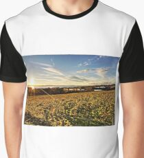 Sunset over Grape Orchards - Lake Constance Graphic T-Shirt
