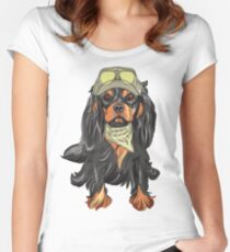 Cavalier King Charles Spaniel Women's Fitted Scoop T-Shirt