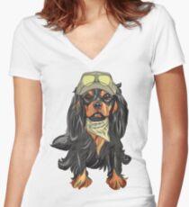 Cavalier King Charles Spaniel Women's Fitted V-Neck T-Shirt