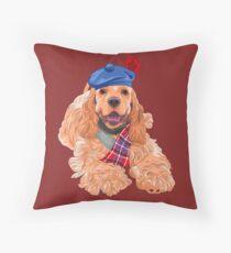 American Cocker Spaniel  Throw Pillow