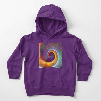 Fibonacci spiral, linify Toddler Pullover Hoodie