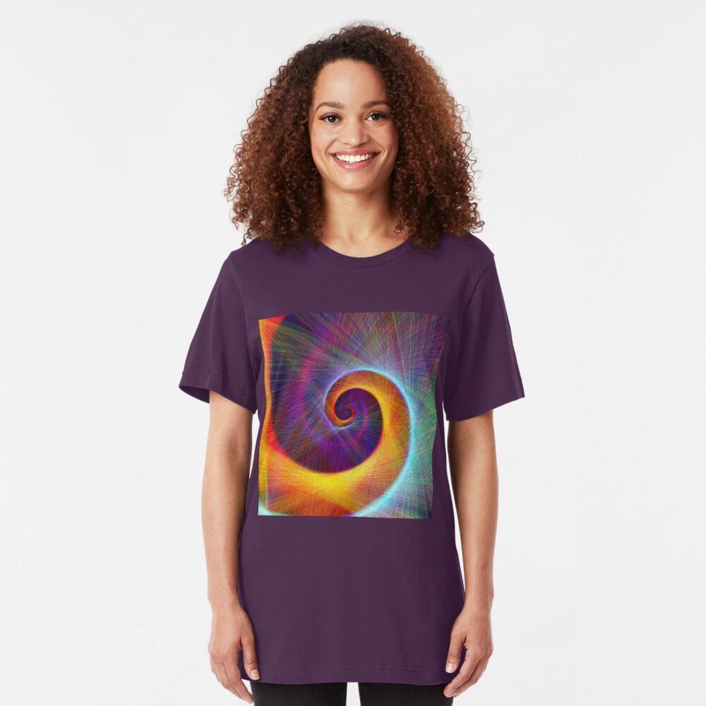 Fibonacci spiral, linify Slim Fit T-Shirt