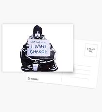 Banksy: Change Postcards