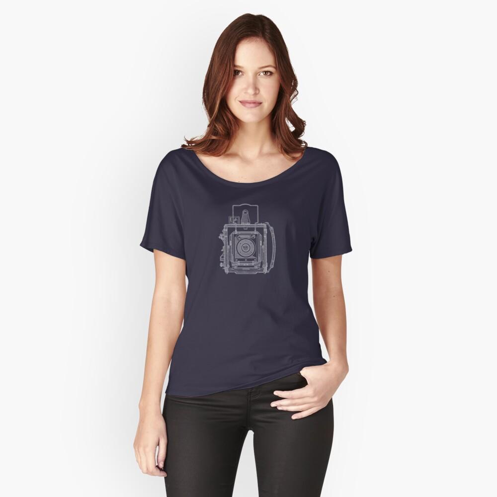 Vintage Photography - Graflex Blueprint Loose Fit T-Shirt