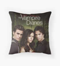 The Vampire Diaries Cover Throw Pillow