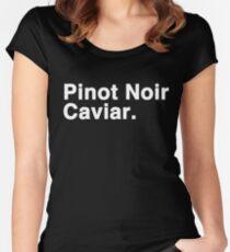 Pinot Noir Caviar (white font) Women's Fitted Scoop T-Shirt