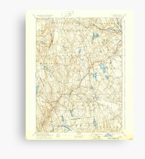 USGS TOPO Map Connecticut CT Gilead 331030 1892 62500 Canvas Print