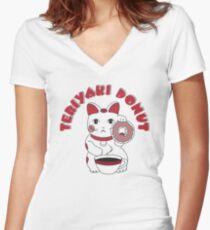 Teriyaki Donut Women's Fitted V-Neck T-Shirt