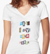 WSY: Hello, I have your pants. Women's Fitted V-Neck T-Shirt