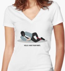 WSY: Hello, I have your pants pt 2 Fitted V-Neck T-Shirt