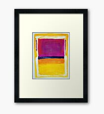 Rothko Appreciation Framed Print