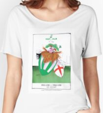 Rugby Balls! ireland v england, tony fernandes Women's Relaxed Fit T-Shirt