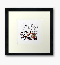 Calvin and Hobbes Sleep Framed Print