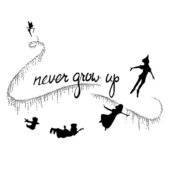 Never Grow Up Peter Pan Posters By Tarpansungkono Redbubble