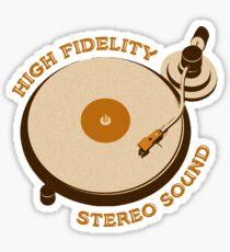 Vintage Vinyl Record High Fidelity Stereo Sound Sticker