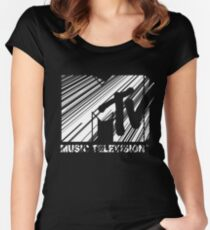 MTV Women's Fitted Scoop T-Shirt