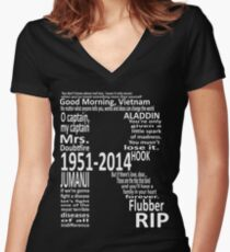 RIP Robin Williams - Tribute Women's Fitted V-Neck T-Shirt