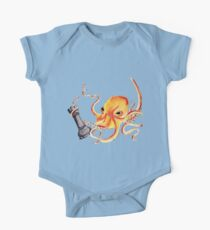 An Octopus Fighting a Rook One Piece - Short Sleeve