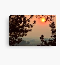 Wildfire Smoke  Canvas Print