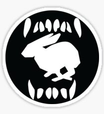 Like a Dog Inspires a Rabbit Sticker
