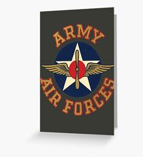 Army Air Forces Emblem  Greeting Card