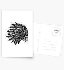 Native Headdress Skull Postcards