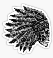 Native Headdress Skull Sticker