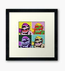 Wario Warhol Framed Print