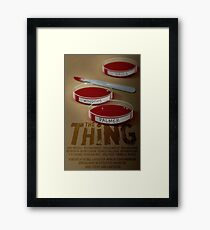 The Thing 1982 horror movie classic Framed Print