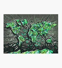 world map abstract 3 Photographic Print