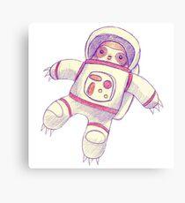 Astronaut Faultier Zeichnung Leinwanddruck