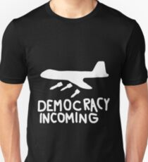 Democracy Incoming (White) Slim Fit T-Shirt