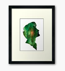 Green galaxy Tenth Doctor Framed Print