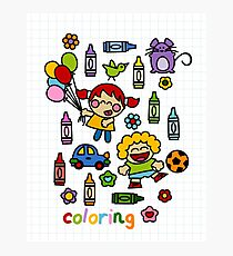 Coloring Photographic Print